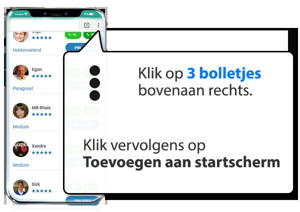 android: Medium.nl instellen als app op Mobiel
